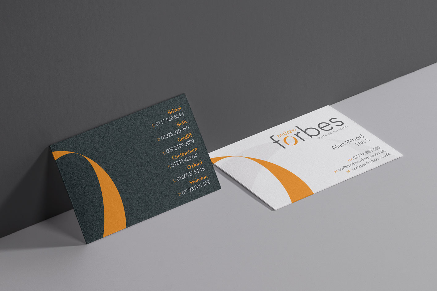 Andrew Forbes business card designs