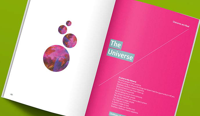 Barnardos poem book design
