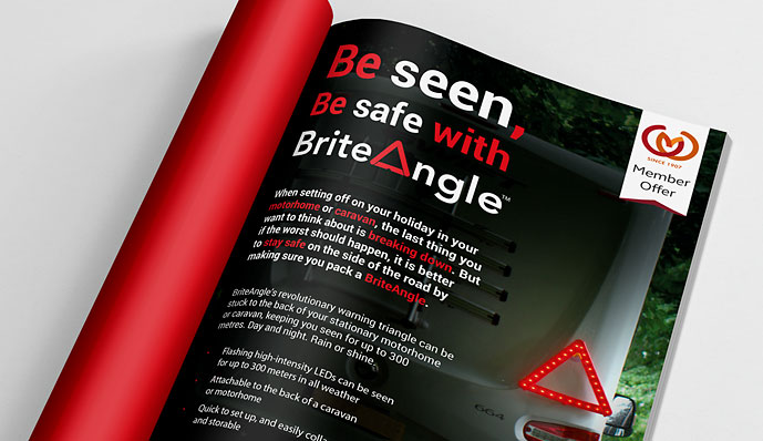 Briteangle advert design