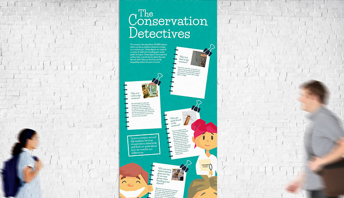 Firing Line Conservation Detectives pop up banner design