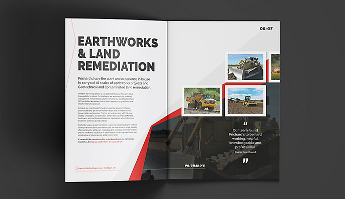 Pritchards Brochure Earthworks Page